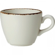 Чашка кофейная «Браун дэппл» фарфор; 85мл; белый, коричнев.