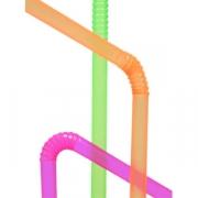 Трубочка неон.d=5мм,24см со сгибом 250шт