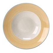 Тарелка для пасты «Рио Еллоу», фарфор, D=27см, белый,желт.