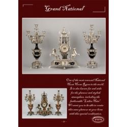 Часы «Grand National» с лошадьми каштан 54х43 см.