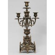 Пара канделябров 4 свечи каштан 41х21 см.