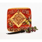 Тарелка для сыра 15см с ножом «Оливки»