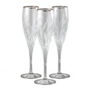 Бокал для шампанского 6 шт Пиза - платина