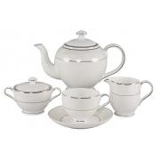 Сервиз чайный 17 пр. на 6 персон «Белый лист»