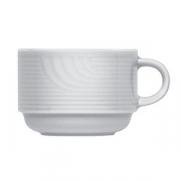 Чашка чайная «Карат», фарфор, 160мл, D=75,H=65,L=100мм, белый