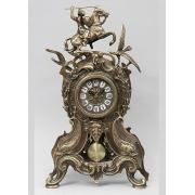 Часы «Всадник и птицы» с маят. каштан 46х26 см.