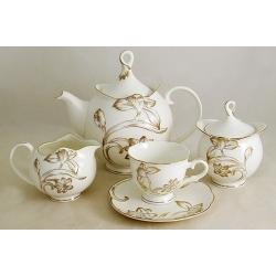 Чайный сервиз из 15 предметов на 6 персон «Золотой тюльпан»
