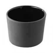 Форма для запекан.; фарфор; 150мл; D=75,H=50мм; черный
