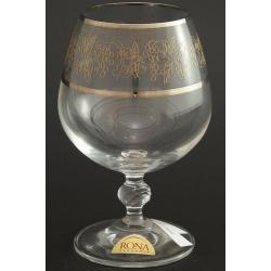 Рюмка для бренди 300 мл «Люция» панто виноград +втертое золото + платиновая кайма над и под декором