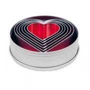 Набор конд.форм «Сердце» [6шт], D=4см