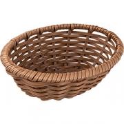 Корзина плетен. для хлеба овал. H=6.5, L=18.5, B=14.5см; коричнев.