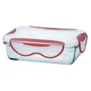 Контейнер стеклянный прямоугольный, 580 мл, Clip Fresh