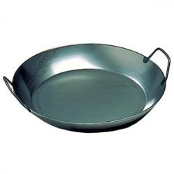 Сковорода для паэльи, сталь, D=450,H=72мм, черный