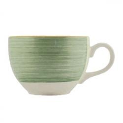 Чашка чайная «Рио Грин», фарфор, 455мл, белый,зелен.