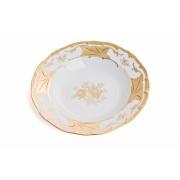 Набор глубоких тарелок 24 см. 6 шт. «Кленовый лист белый»
