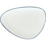 Тарелка мелкая «Органика» L=28, B=20.5см; белый, синий