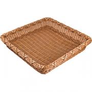 Корзина плетен. для хлеба квадр. H=8, L=45, B=45см; коричнев.