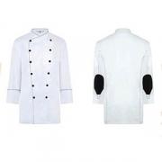 Куртка поварская 60р.б/пуклей, полиэстер,хлопок, белый,черный