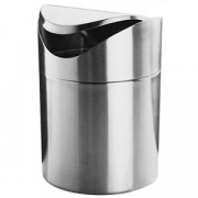 Урна для мусора,настольная, сталь нерж., D=12,H=17см