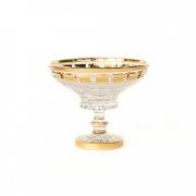 Ваза для конфет на ножке 15,5 см. «Золотые окошки 60550»