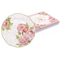 Тарелка десертная Дамасская роза в подарочной упаковке