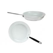 Сковорода 24 см покрытие кремовое керамическое
