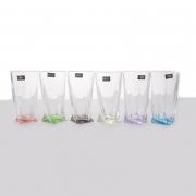 Набор стаканов 350 мл.6 шт. «Квадро Цветные»