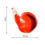 Скульптура для интерьера улитка красная 8х8,5см