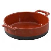 Сковорода порц.для запек. «Эклипс», фарфор, 290мл, D=12,H=5см, красный,черный