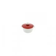 Кастрюля для сервировки с крышкой «Революшн» D=19, H=12.5см; белый, красный
