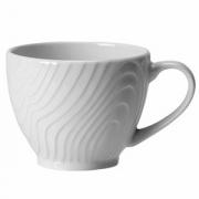 Чашка чайная «Оптик», фарфор, 180мл, D=90,H=65,L=120мм, белый