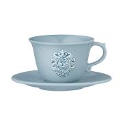 Чашка с блюдцем Аральдо (голубой)