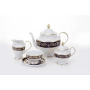 Сервиз чайный на 6пер. 15пред «Александрия Кобальт/зол «