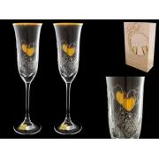 Бокал для шампанского свадебные (набор 2 шт.)