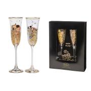 Набор: 2 бокала для шампанского Поцелуй/Объятия