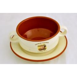 Суповая чашка на блюдце «Деревенское утро» 0,3 л