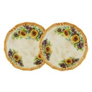 Набор из 2-х десертных тарелок Подсолнухи Италии