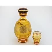 Набор амбер(графин +6 стаканов)