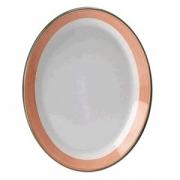 Блюдо овальное «Рио Пинк»; фарфор; L=28см; белый,розов.