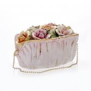 Декоративная сумочка 17x14x11 см. «Цветы»