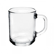 Кружка «Зеленый чай», стекло, 200мл, D=102,H=90мм, прозр.