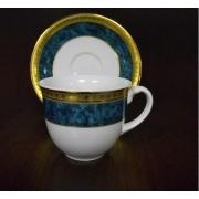 Набор 6 чайных пар 200мл «Малахит»
