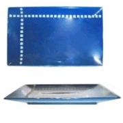 Блюдо прямоугольное «Вьюпоинт», фарфор, H=3,L=28,B=17см, синий