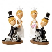 Фигурки жениха и невесты [4шт], H=10см