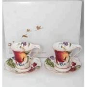 Набор 6 чайных пар «Фрукты айвори»