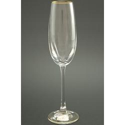 Бокал для шампанского 180 мл «Эсприт» оптика декор золотая кайма по краю рюмки и по краю дна