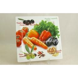 Блюдо квадратное «Овощное ассорти» 24х24 см