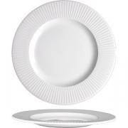 Тарелка мелкая «Уиллоу» D=30см; белый