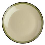 Тарелка мелкая «Фоголар», D=27см, бежев.,зелен.