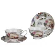 Пара чайная 2 перс 4 пр Летние радости (с розой)